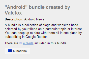 Google Reader Bundles