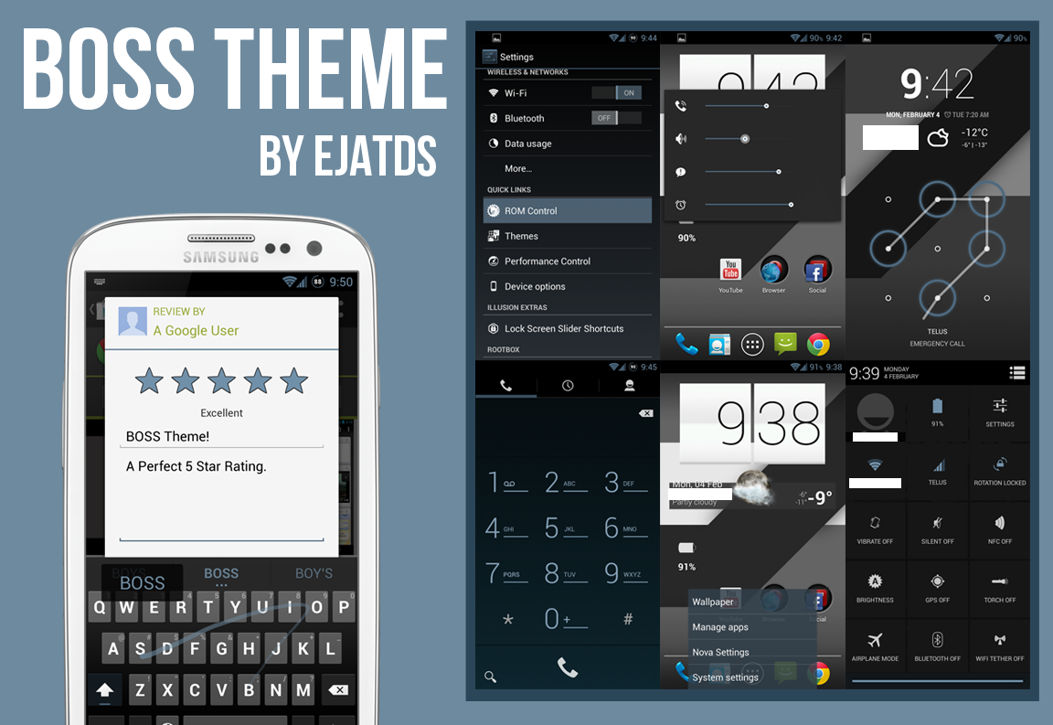 24 Beautiful Android Themes for CM Theme Chooser ROMs